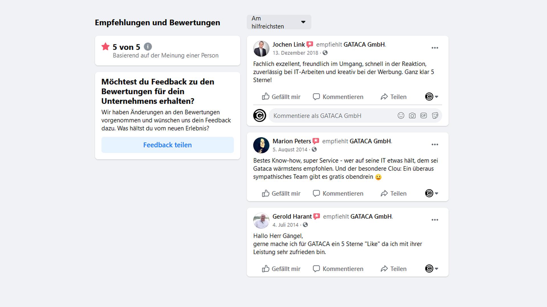 Bewertungen-und-Testimonials-GATACA-Facebook