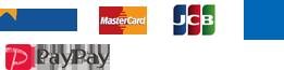 VISA MasterCard JCB AMERICANEXPRESS PayPay