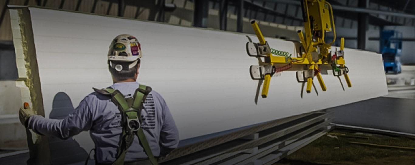 Paneelsauger für Sandwichpaneele, Dach- und Deckenelemente sowie Trapezblech