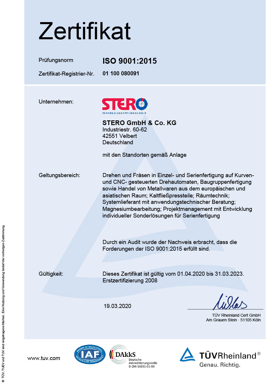 Zertifikat 2020-2023