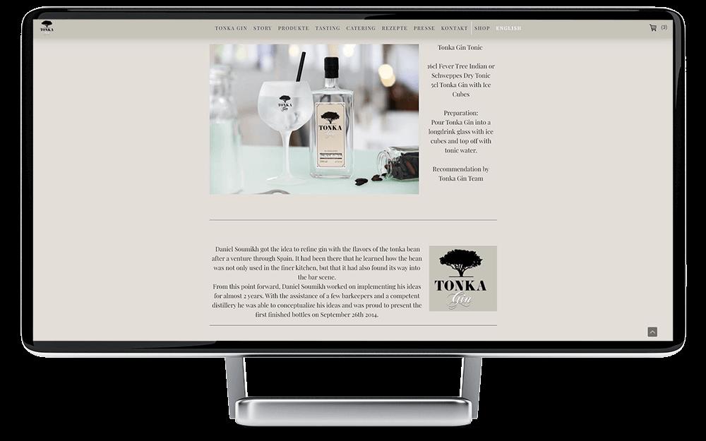 Website Jimdo vorher