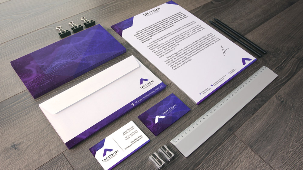 Business stationery and identity design