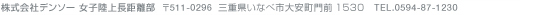株式会社デンソー 女子陸上長距離部 〒511-0296 三重県いなべ市大安町大字門前 TEL. 0594-87-1230
