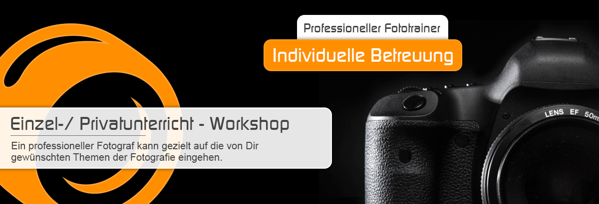 Privatunterricht / Einzelunterricht beim Foto-Workshop