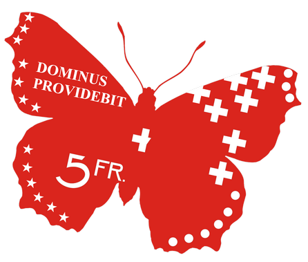 Five Swiss Francs Butterfly