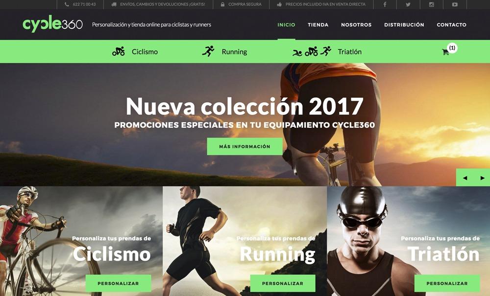 tienda online con Jimdo de artículos para el ciclista