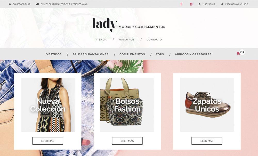 tienda online con Jimdo de moda