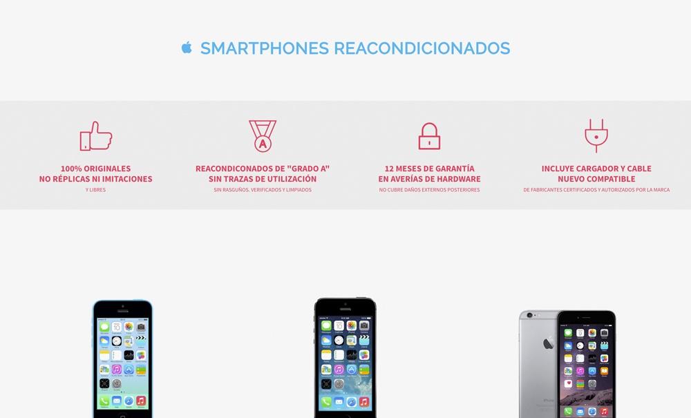 tienda online con Jimdo para venta de smartphones