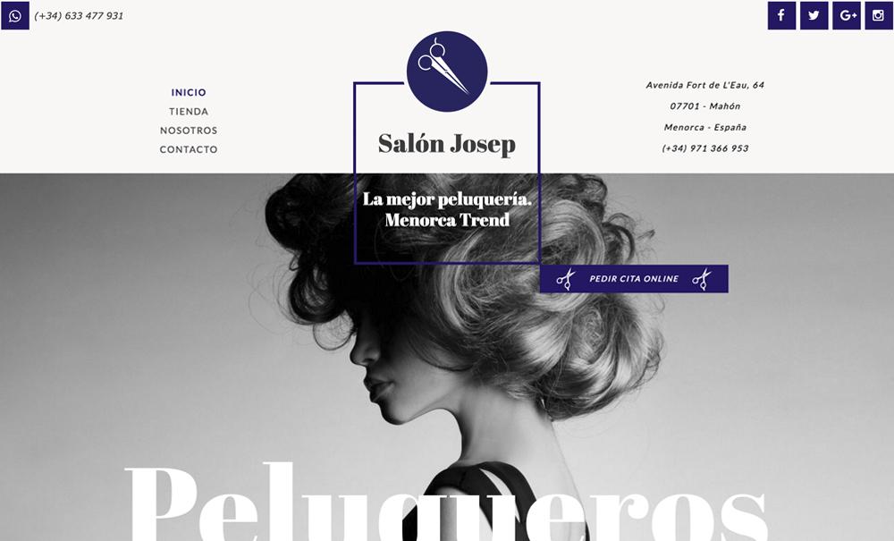 tienda online con Jimdo artículos peluquería