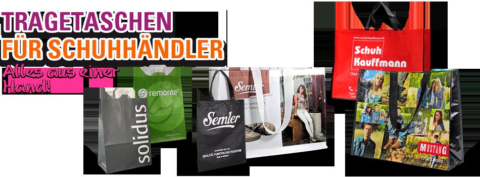 Werbetaschen für Schuhhändler