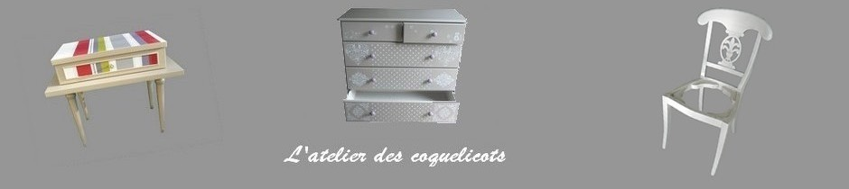 Relooking de meubles sans d capage l 39 atelier des coquelicots el onore d co calvados 14 - Auto entrepreneur relooking meuble ...