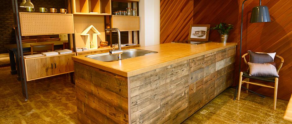 無垢材・古材のオーダーメイドキッチン・家具の販売店