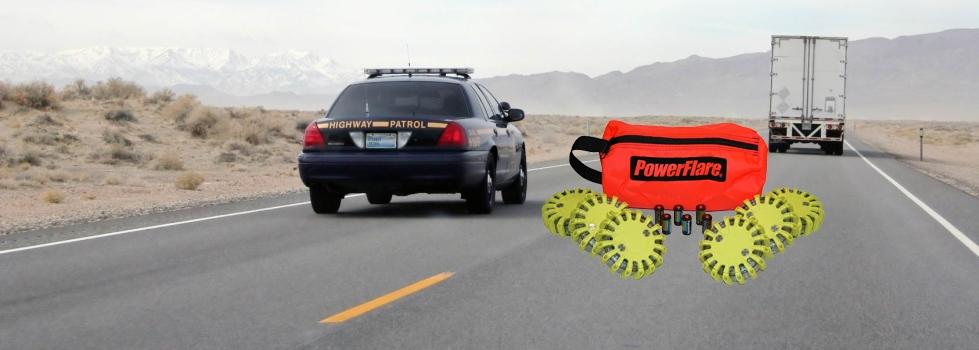 Original PowerFlare-Warnleuchten für die Polizei