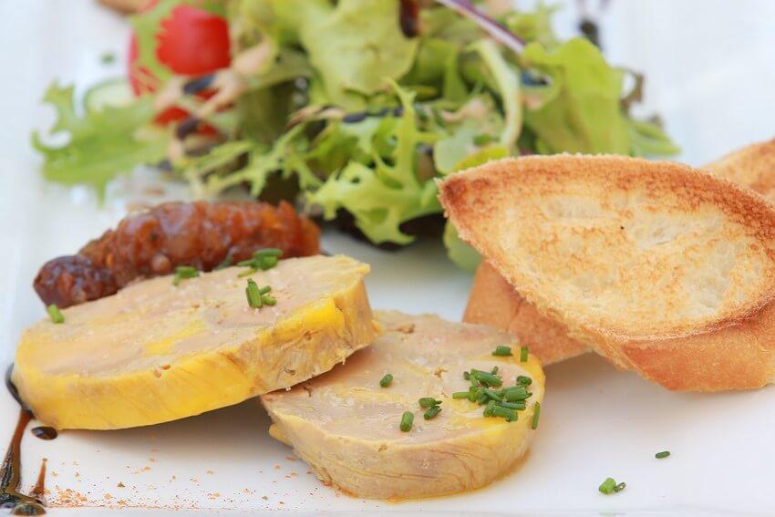 entree-foie gras-restaurant les coulonrines