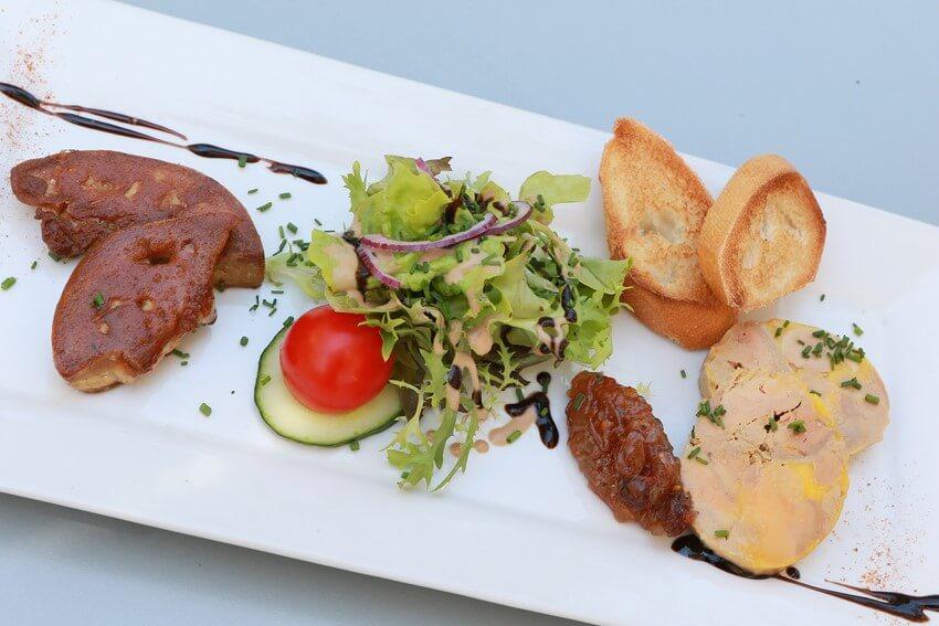 plat de magret-restaurant les coulondrines