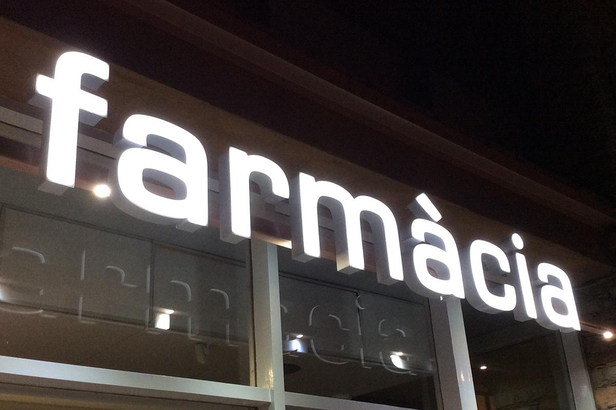 Rètols lluminosos per a farmàcies