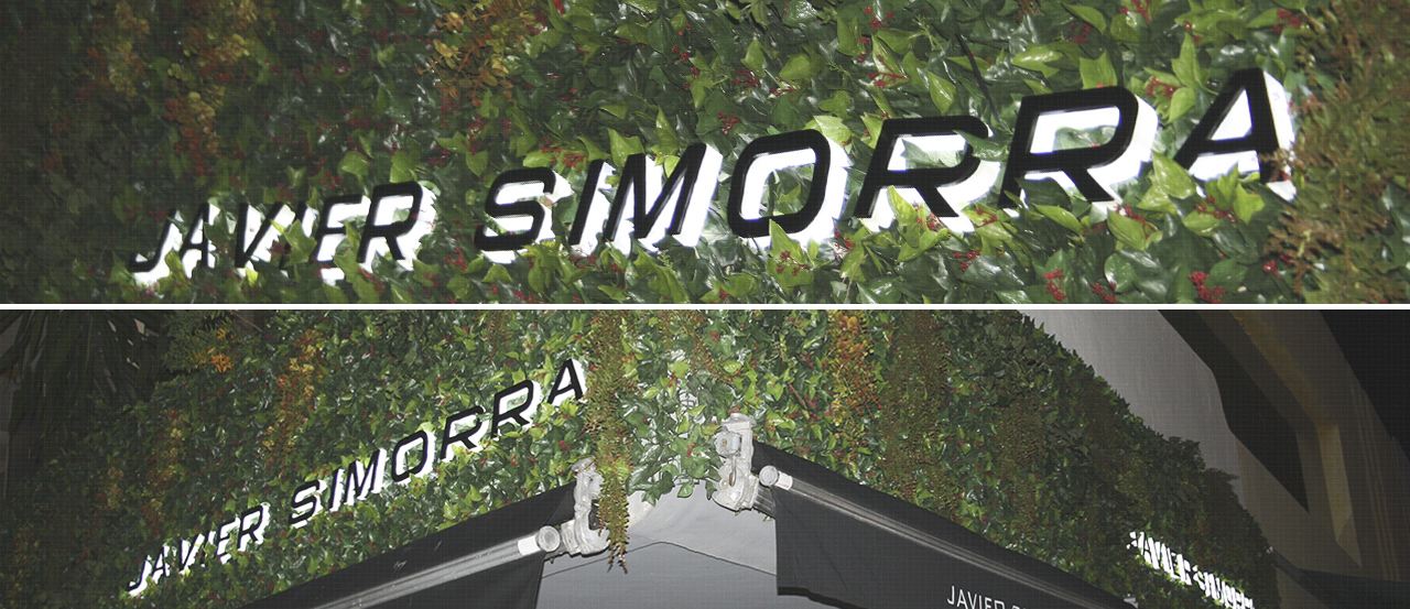 Rètol lletres corpòries metacrilat leds acer inoxidable Javier Simorra