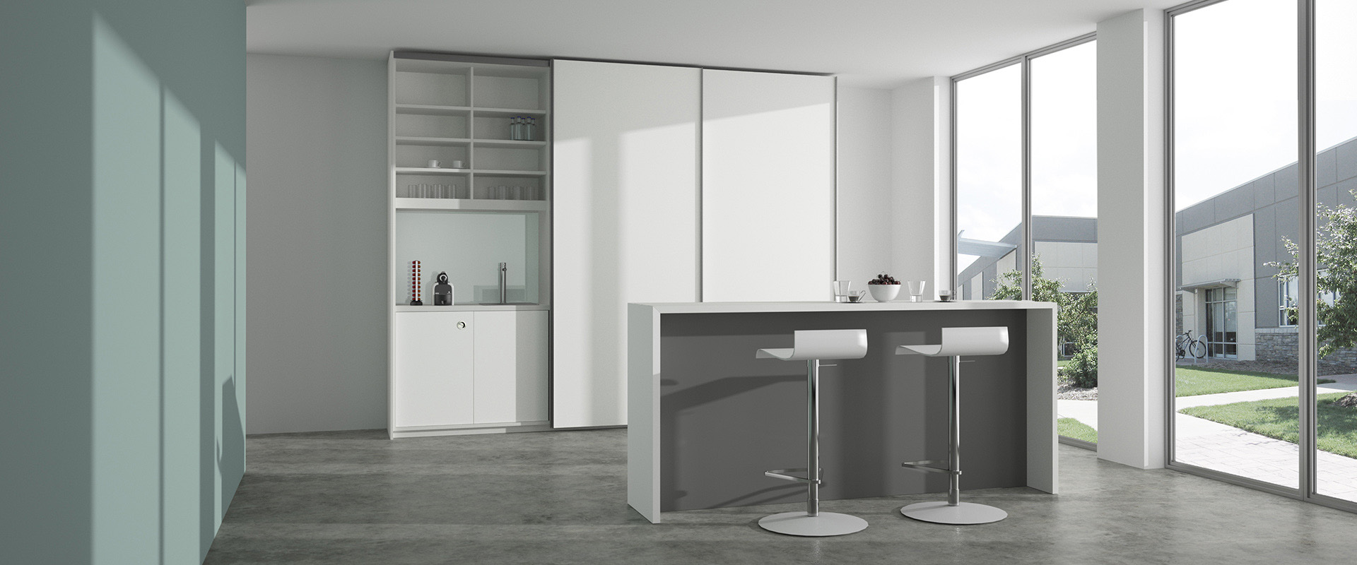 Sliding-door cupboards basic S