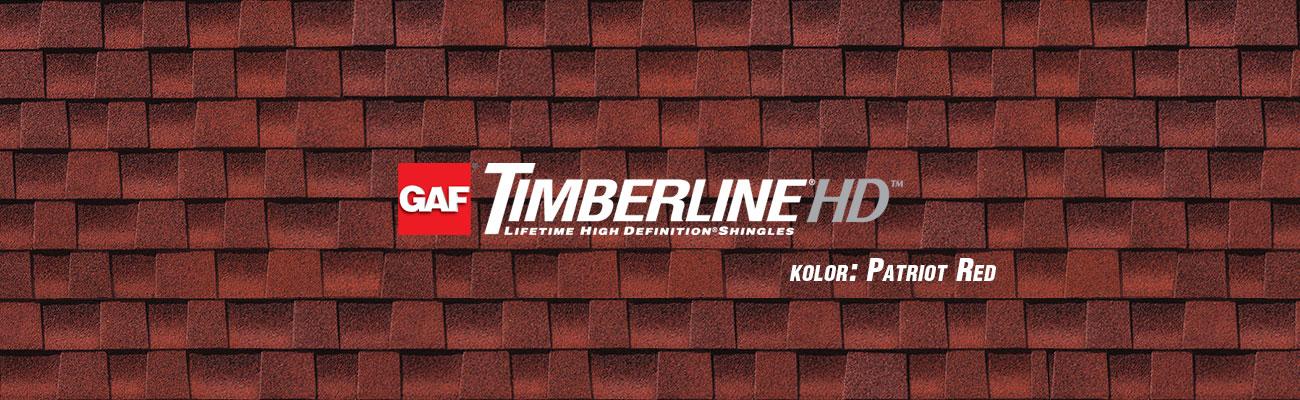 gont bitumiczny GAF Timberline HD w kolorze Patriot Red