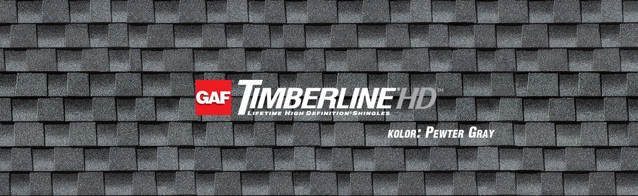 gont bitumiczny GAF Timberline HD w kolorze Pewter Gray