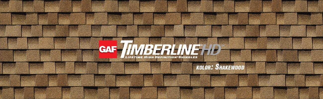 gont bitumiczny GAF Timberline HD w kolorze Shakewood