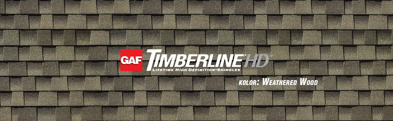 gont bitumiczny GAF Timberline HD w kolorze Weathered Wood