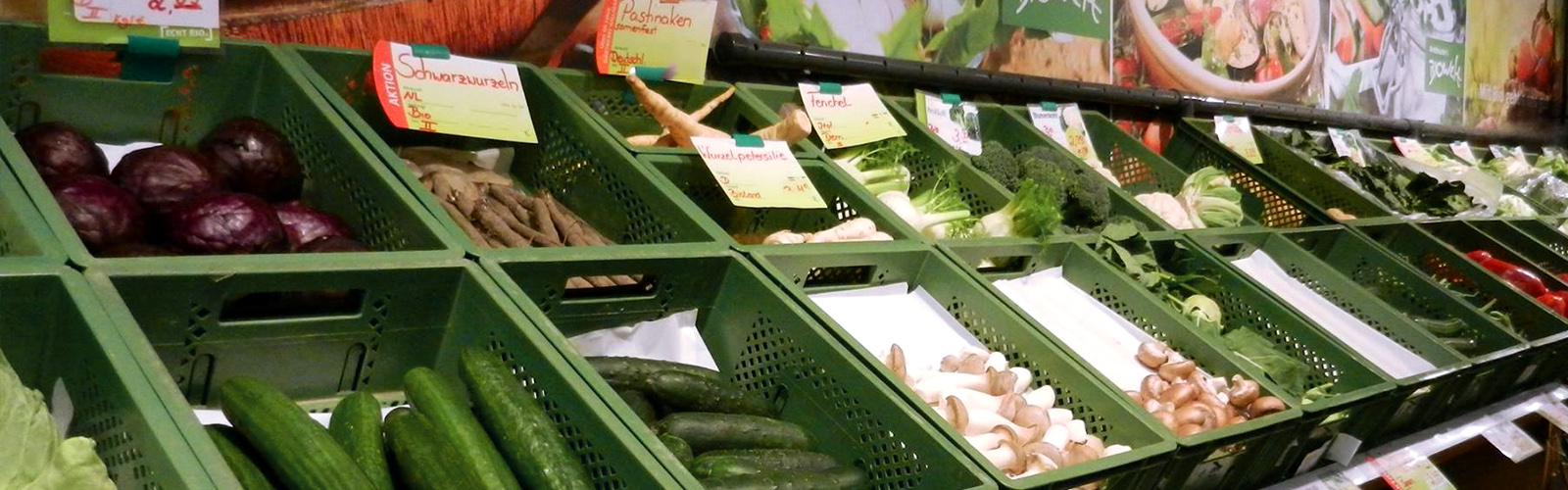 Frisches Obst & Gemüse und frischer Salat