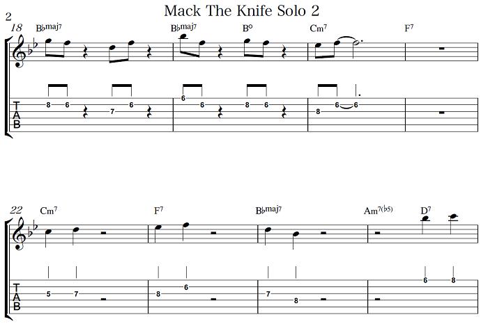初心者OK ジャズギター入門 Mack The Knife アドリブ3