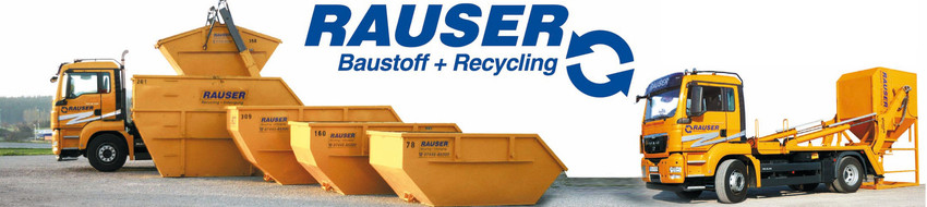 leistungen rauser container baustoff recycling. Black Bedroom Furniture Sets. Home Design Ideas