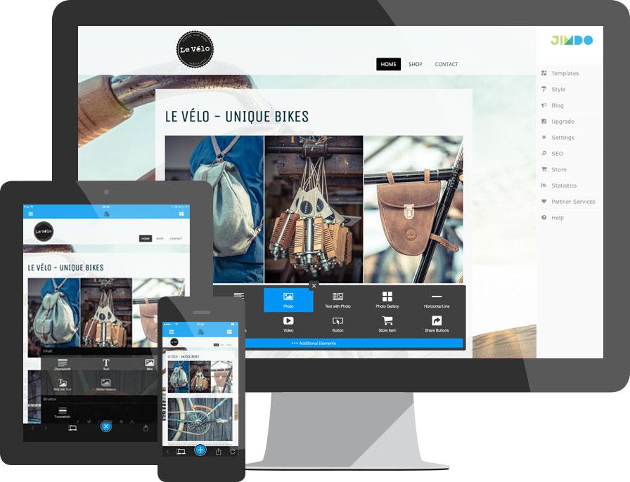 Панель управления Jimdo-сайтом