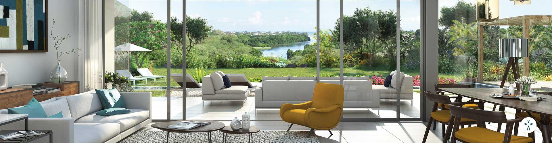 achat vente immobilier pas Akasha ile maurice villa en pleine propriété et résidence annonce immobilière proche golf à Tamarin