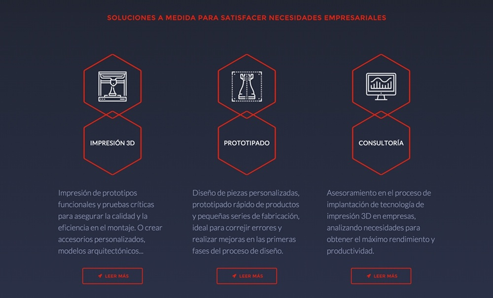 diseño web con Jimdo para empresa de impresión 3d