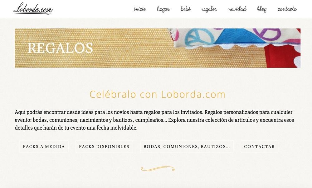 diseño web con Jimdo para tienda online de productos hechos a mano