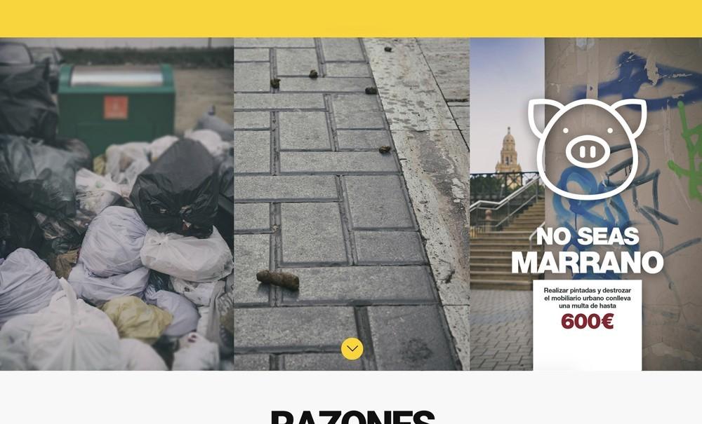 diseño web con Jimdo para campaña de limpieza viaria de Ayuntamiento