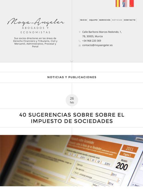 diseño web con Jimdo para bufete abogados, versión tablet