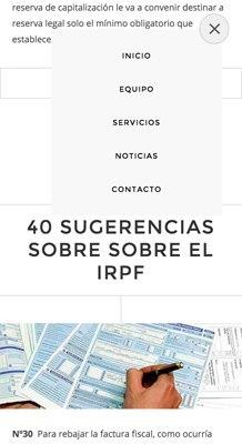 diseño web con Jimdo para bufete abogados, versión móvil