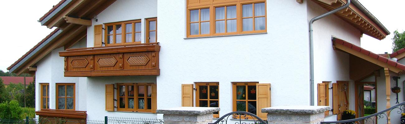 Holzfenster-Verkleidung