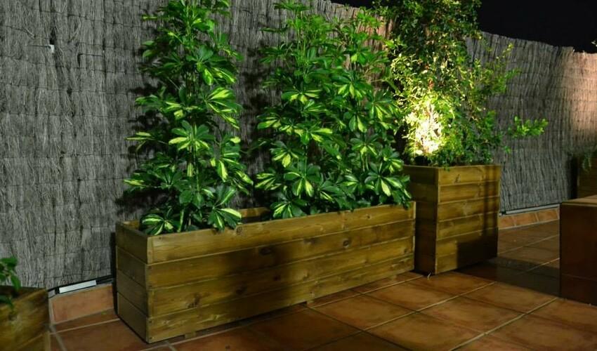 Jardineras y maceteros rusticos jardineras de madera - Maceteros de madera para exterior ...