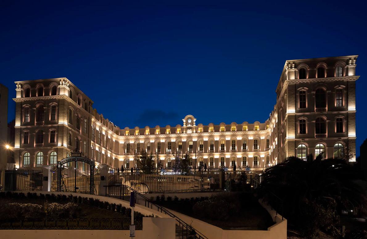 hotel dieu intercontinental facade marseille laterale conception lumi re. Black Bedroom Furniture Sets. Home Design Ideas
