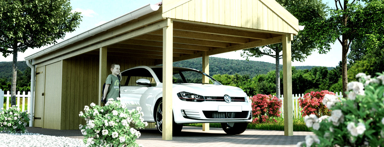 carports carport holz alu bausatz preis carportfabrik. Black Bedroom Furniture Sets. Home Design Ideas