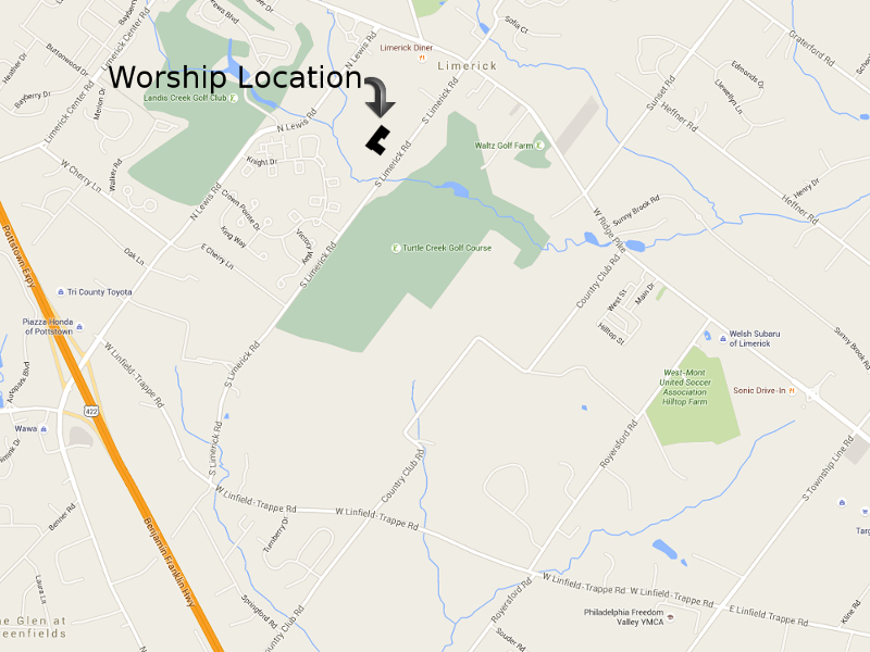 Map & Directions to Worship Location