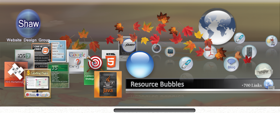 image of Shaw learning resource bubbles