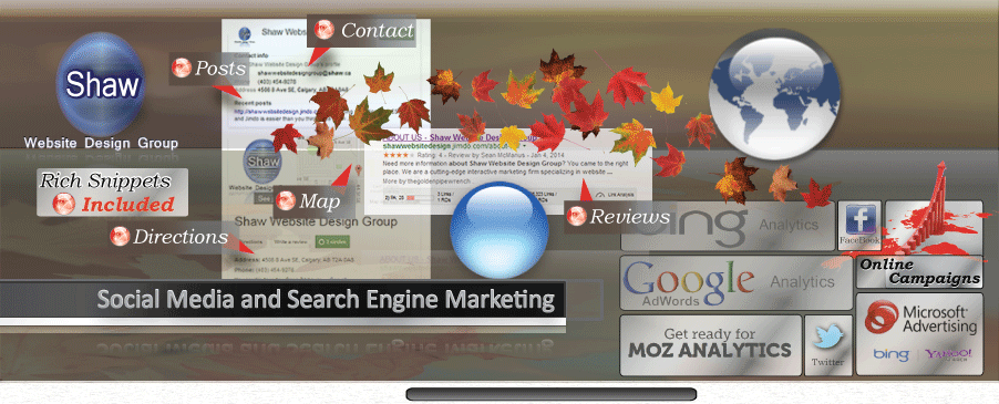 Image of Shaw's Social media - search engine marketing header image