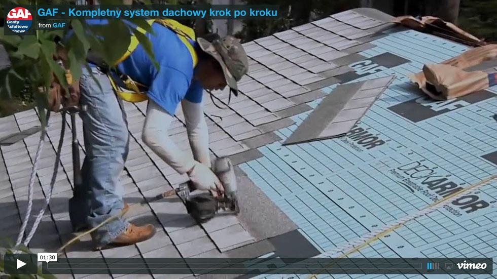 Gonty bitumiczne i akcesoria dachowe GAF - Montaż krok po kroku™