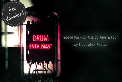 Drum Enthusiast Sound Pack for Analog Keys Analog Four Machinedrum Octatrack Analog Rytm