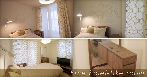 Fine hotel-like room