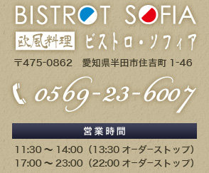 電話番号:0569-23-6007