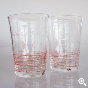ペアグラス 赤い糸