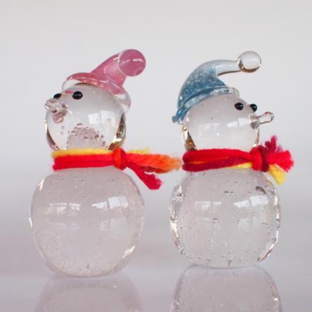ガラスの雪ダルマ 雪ダルさん
