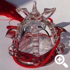 ガラスの兜飾り 炎 ~RED~
